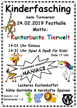 Kinderfasching 2019